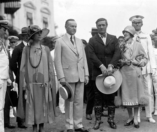 how did calvin coolidge meet his wife