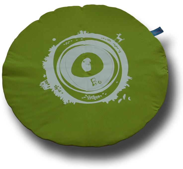 Rond #boxkleed met tekening #geboortekleed | round #quilt with design