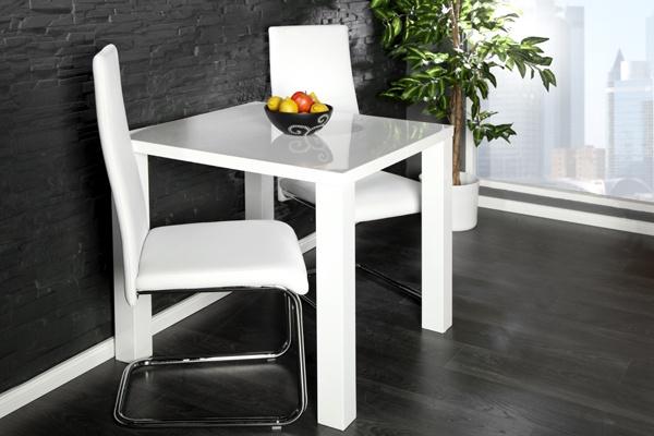 Design Esstisch LUCENTE hochglanz weiss 80x80cm Küchentisch  bei Riess Ambiente
