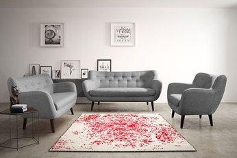 Découvrez notre Ensemble canapé fixe 3+2 places gris en tissu style scandinave ALEXANDER 4, disponible sur Sofamobili, spécialiste des meubles de salon.