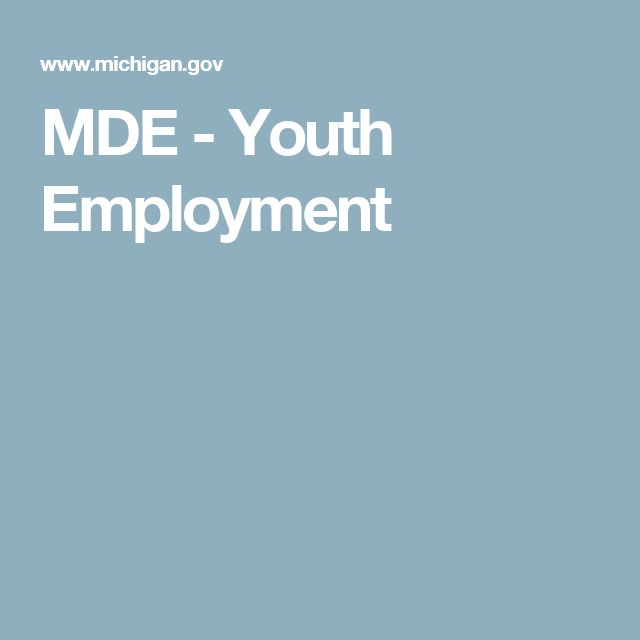 MDE - Youth Employment