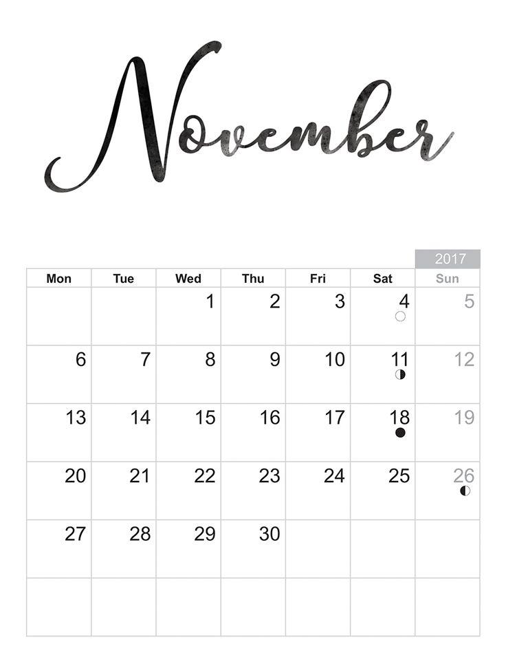 2017 November - Free printable Sheet