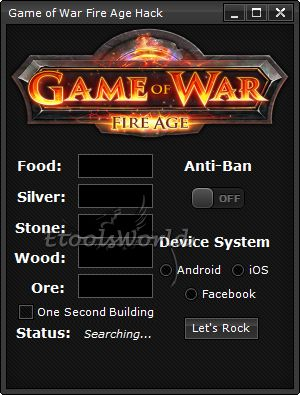 http://www.etoolsworld.com/game-of-war-fire-age-hack/ - The best clone of Clash of Clans has also own tools like Game of War Fire Age Hack. The best, the only one.