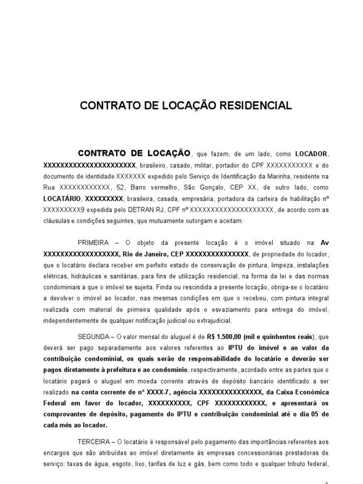 Contrato De Loca O De Im Artigo November 2019 Serviço
