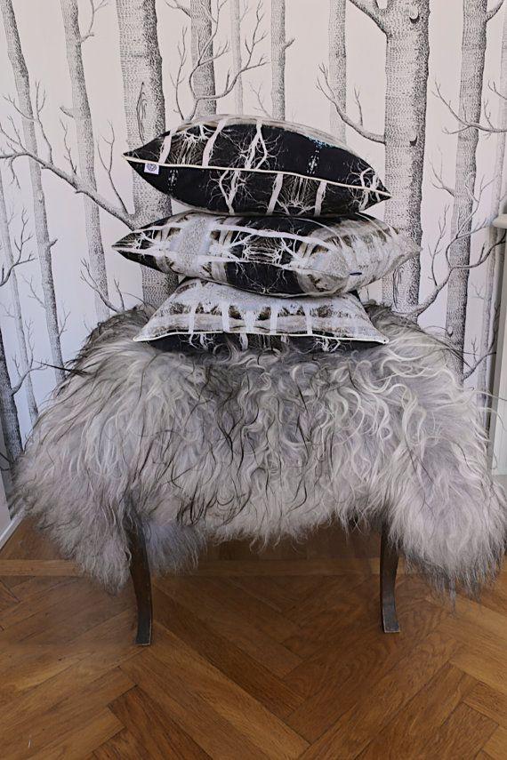 Cushion cover Bridge Neg by Strova on Etsy