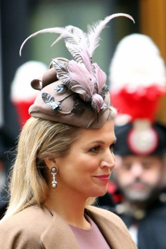 Queen Máxima, January 23, 2014 in Fabienne Delvigne | The Royal Hats Blog