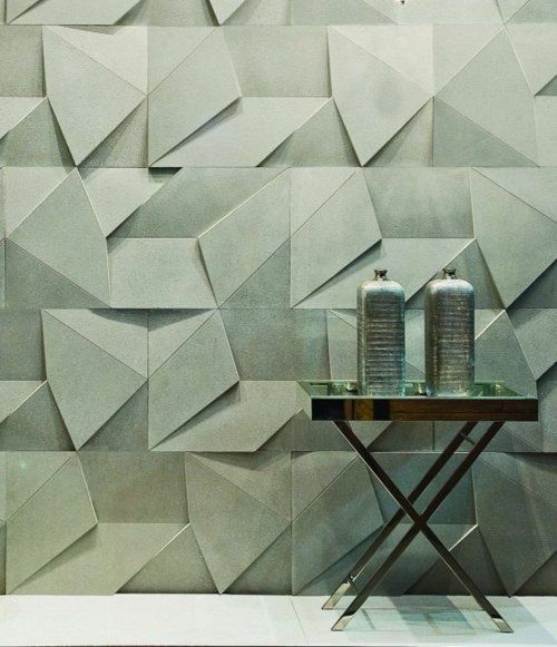 Amazing walls, lovely color...Scaleno wall surface in Cinza (grey) from Brazilian tile manufacturer Castelatto. See their site for many other beautiful offerings. ty, the Absolution. via Castaletto