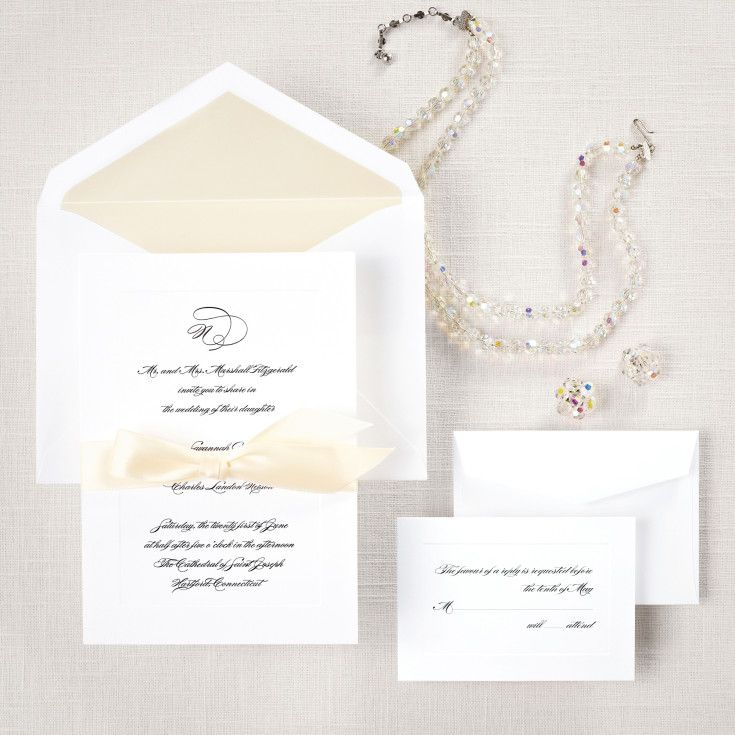 Exclusively Weddings Classic Couture Wedding Invitation Is A Couture  Wedding Invitation. This Non Folding