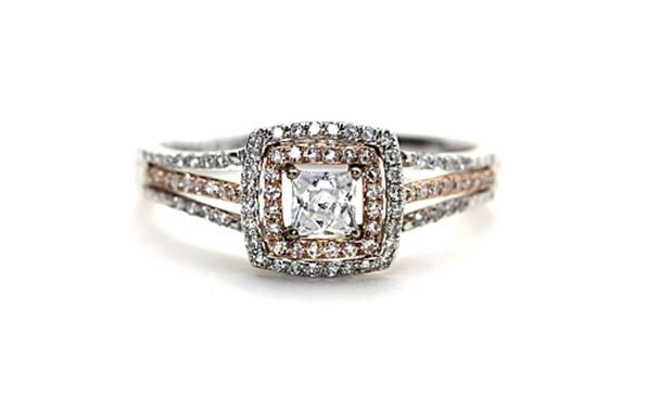 9ct White and #RoseGold solitaire ring. http://www.sterns.co.za