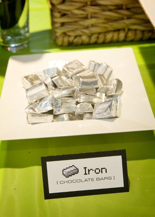 Minecraft Party Food Iron Chocolate Bars