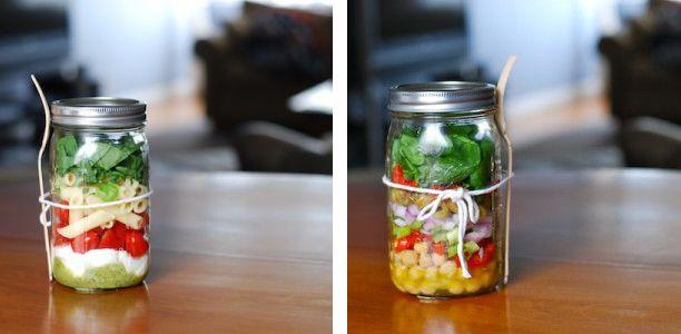 via craftzineMason Jars Salad, Salad Jars, Salad In Mason Jars Png, Jars Recipe, Lunches Boxes, Mason Jar Salads, Salad Lunches, Mason Jars Lunches, Favorite Recipe
