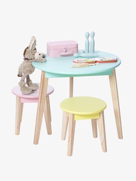 Table ronde Pastille - Vert d eau - 3