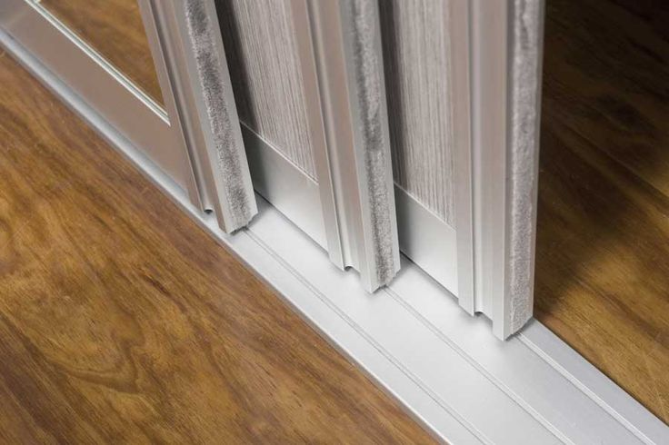 Sliding door track - close up // Innovative Interiors