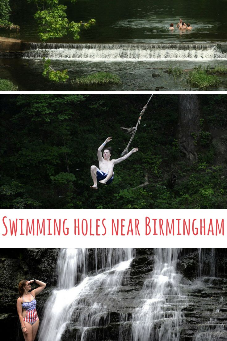 All of these swimming holes are within an hour's drive from Birmingham, Alabama. #Alabama #Outdoors #Summer