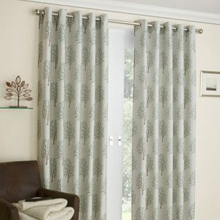 Image for Hawthorn, Sage - Ready Made Curtains
