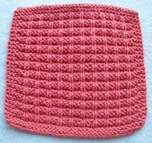 Waffle Knitting Pattern Dishcloth : Dishcloth, Patterns and Knitting on Pinterest