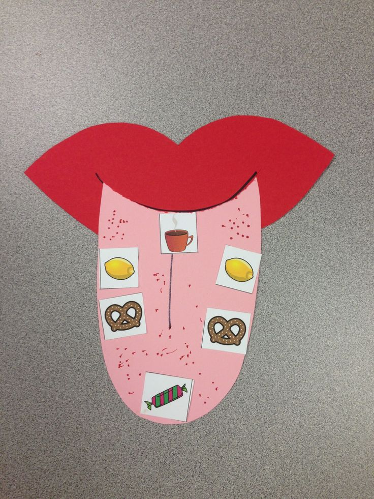 Five Senses Craft - Sense of Taste Tongue Map visit www.letsgetreadyforkindergarten.com