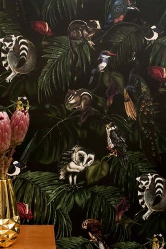 Amazonia Dark Wallpaper by Witch and Watchman - 10 m Roll