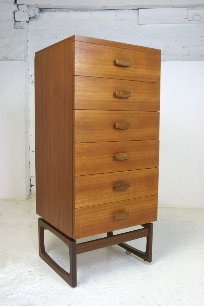 Best 1950S 60S G Plan Six Drawer Tallboy G Plan Furniture 640 x 480