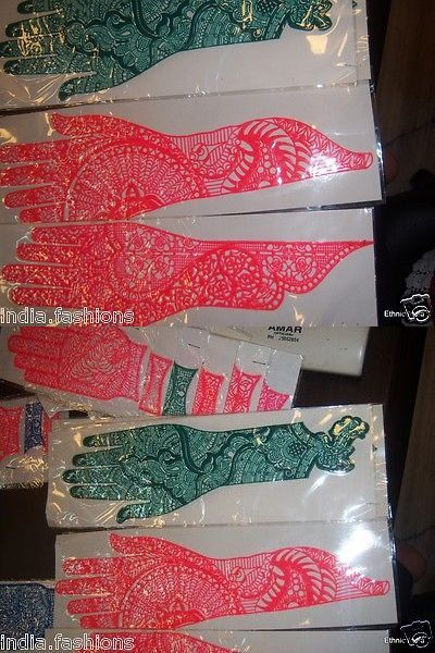 Stencils and Accessories: 300 Long Henna Palm Mehndi Stencil Gypsy Body Art Tattoo Wholesale Lot -> BUY IT NOW ONLY: $150 on eBay!