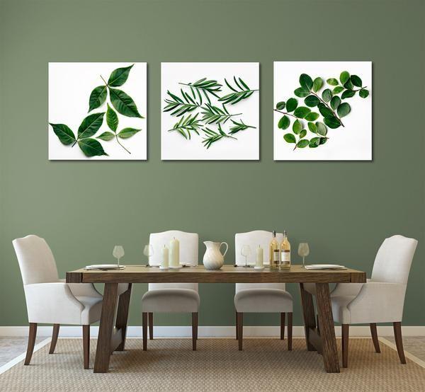 Large Square Leaves print set - 3x 60x60cm prints