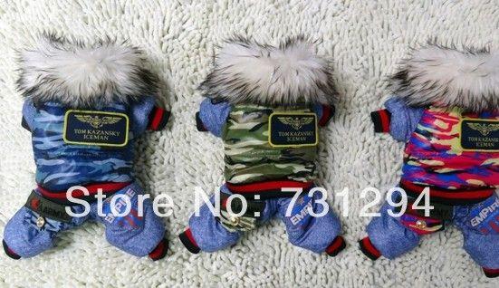 Pet комбинезон одежда для собак pet одежда pet products новый дизайн моды бутик одежды любимчика костюм. в Армейском стиле