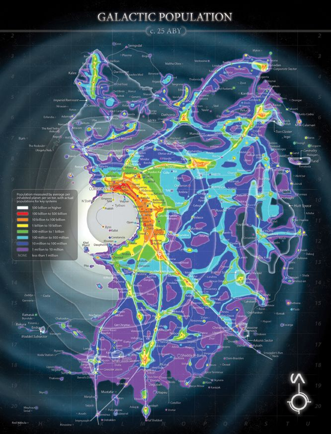 Galactic Population Density Map