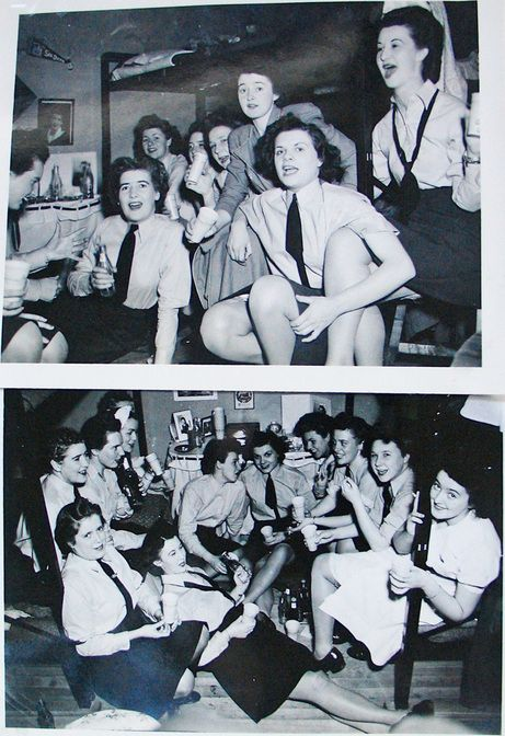"""There were plenty of parties in the """"henhouse"""" among members of the Women's Division at RCAF Centralia, Ontario, in 1943 or 1944. For more: www.elinorflorence.com/blog/rcaf-women-photographer"""