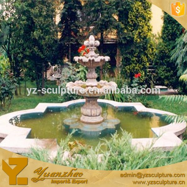 Large size outddoor garden 3 tier water fountain for for Cheap garden ponds