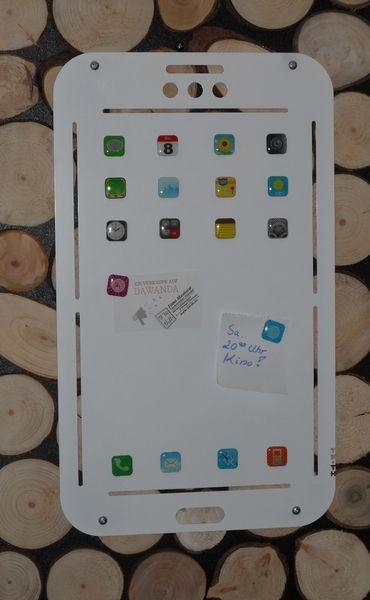 XXL Magnetpinnwand Tablet-Design inkl. 18 Magnete von tm-te-ha via dawanda.com