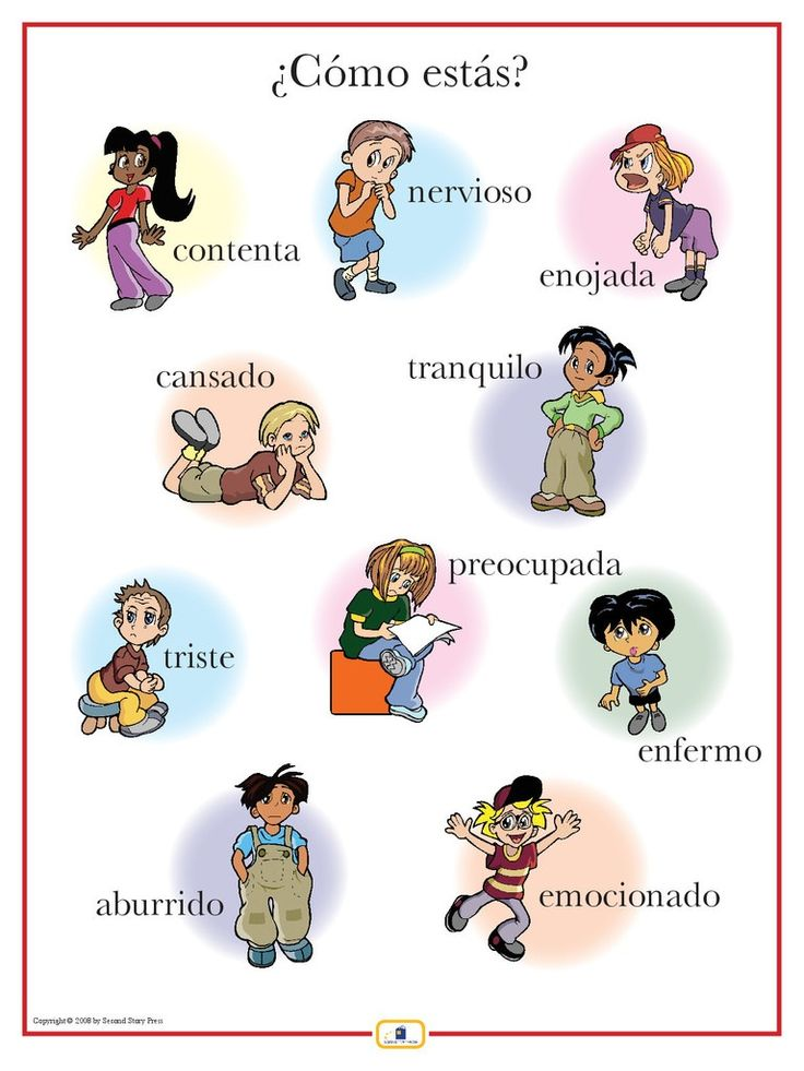 Actions spanish estar expressions -- FREE to print