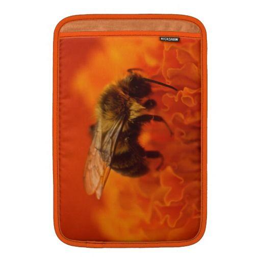 Bee on Orange flower MacBook Air Sleeve