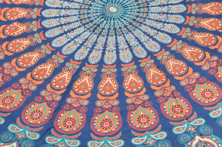 Yoga Mats & Equipment – Boho Roundie Mandala Beach Blanket 72 x 72 Inch – a unique product by IndianCraftPalace on DaWanda