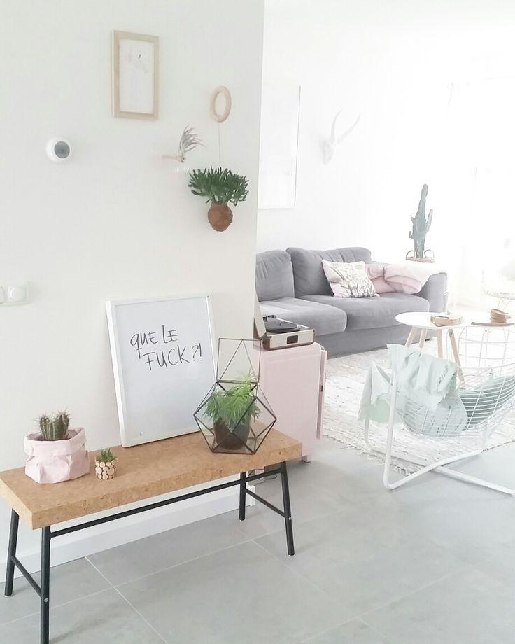 Livingroom   bankje kurk Ikea @styledbyeve www.styledbyeve.nl