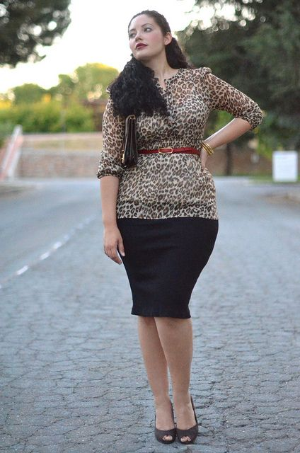 How can you turn-up the volume on a leopard print? Add a hint of red!