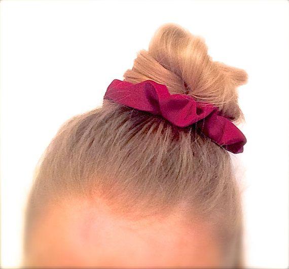 Scrunchie Hair elastic. Burgundy dark red. by ChouchouScrunchie