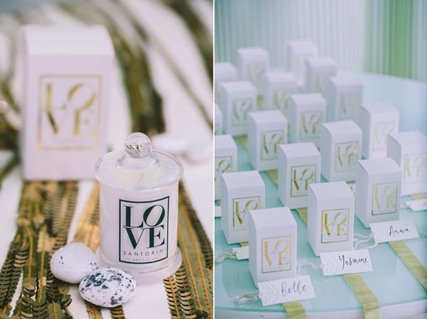 Scented candles with customised wedding date | Photo by: George Pahountis