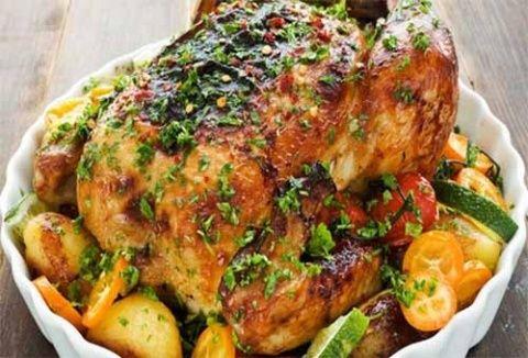 Курица с травами и лимоном