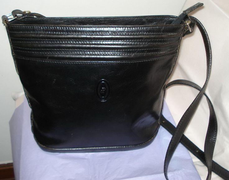 I Ponti Firenze Bucket Bag Black Leather Logo Luxury Designer Italian Shoulder Cross Body Holdall Handbag Purse 80s Womens Fashion Gift by MushkaVintage3 on Etsy