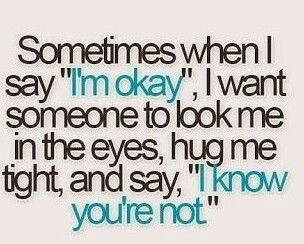 I would appreciate it so much if someone to say this to me just one time~AF