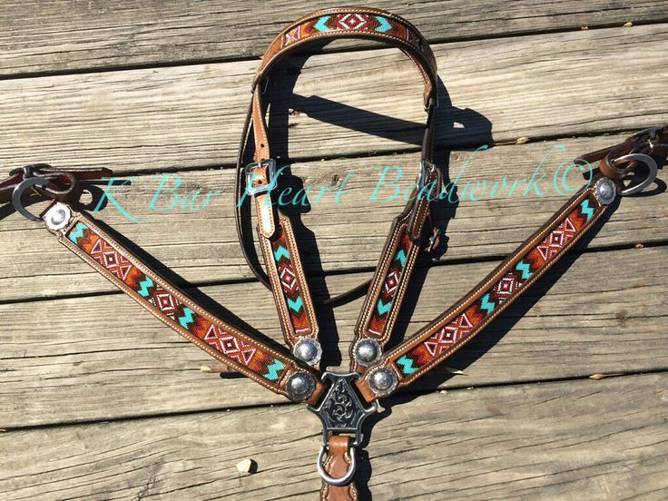 K bar heart beadwork. Custom made beaded headstalls, beaded tack, beaded headstalls, beaded hatbands, beaded spur straps, beaded bronc halter, beaded belts Custom cowboy beadwork. Beaded tack set Www.facebook.com/kbarheartbeads