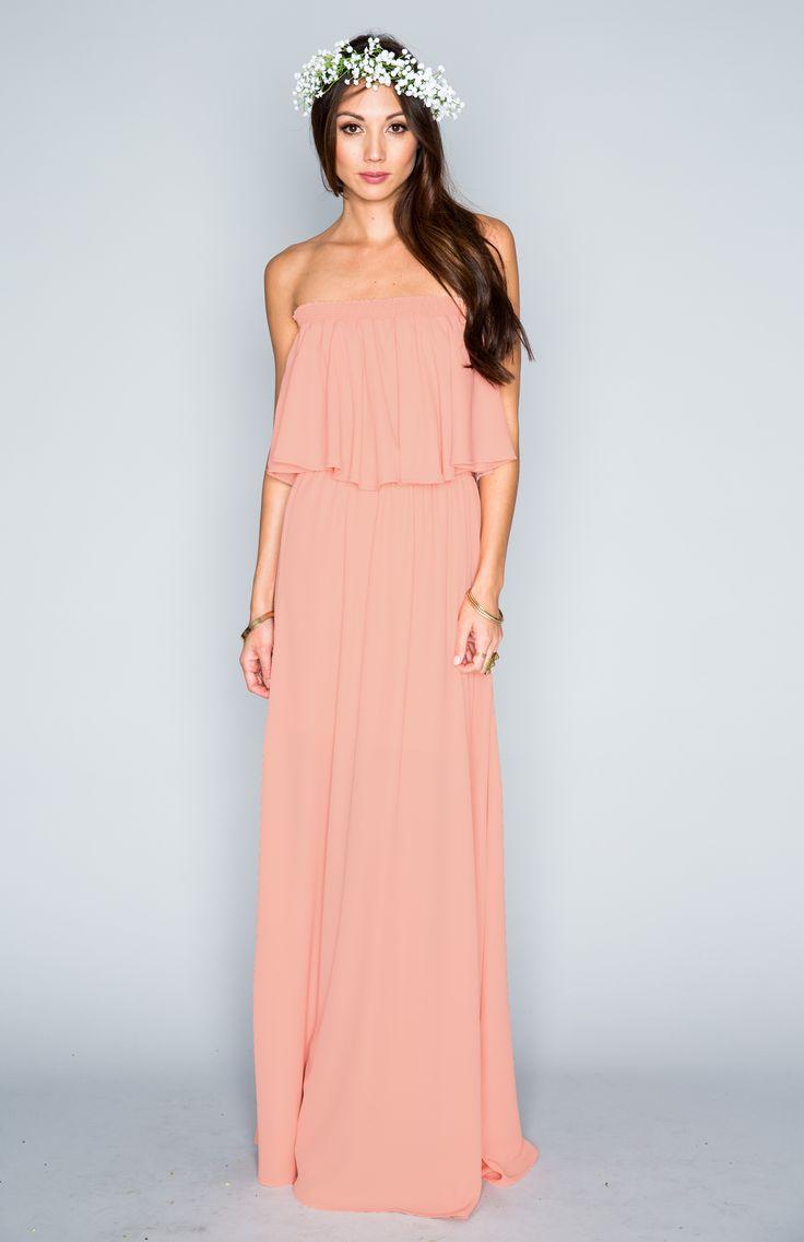 58 best vestidos images on pinterest hacienda maxi dress soft peach crisp ombrellifo Images