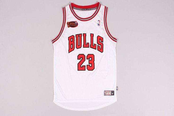 #23 Michael Jordan Bulls final jersey white (heat applied)