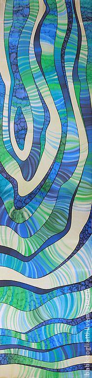 """Шарфы и шарфики ручной работы. Ярмарка Мастеров - ручная работа шарф """"Фантазийные полосы"""". Handmade."""