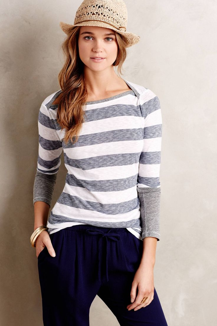 Discover unique printed tees and striped tees at Anthropologie, including  the season's newest arrivals.