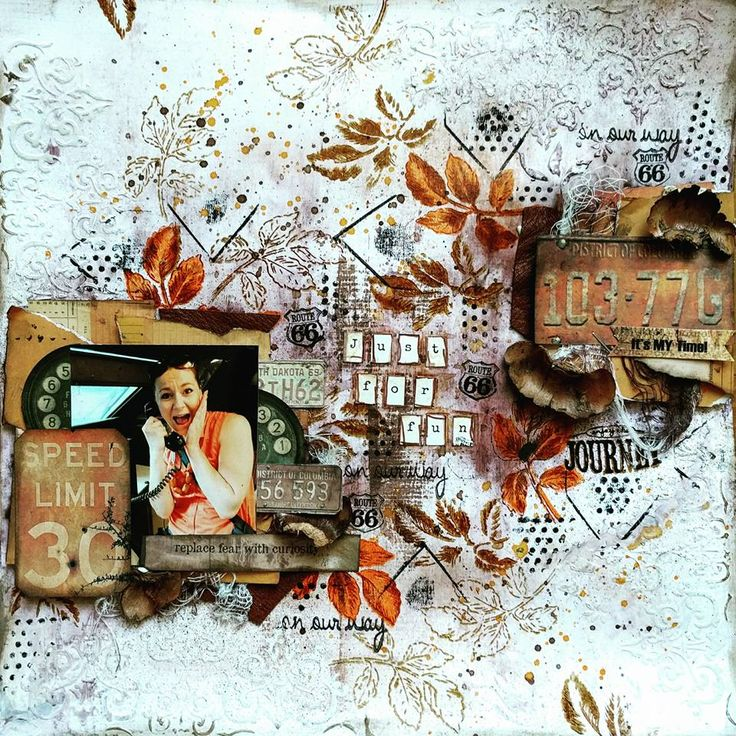 Canvas Corp Brands Fall Mixed Media Layout