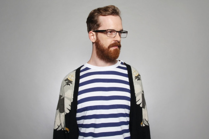 Hipster guy with glasses