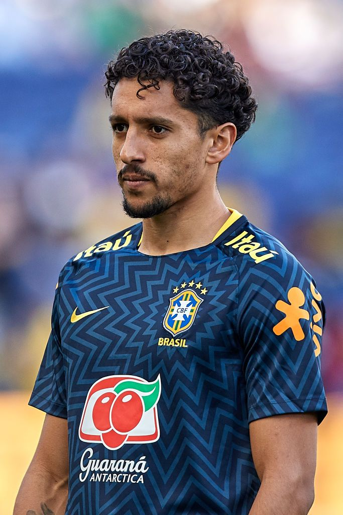 Marcos Aosa Marquinhos Of Brazil Looks On Prior To The Sports Images Brazil That Look