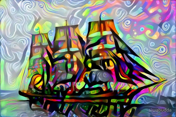Colorful ship