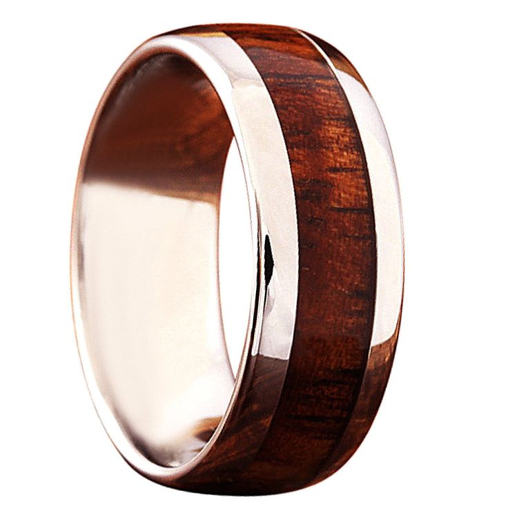 8mm U0026 6mm Wood Wedding Ring Design With An Oval Shape For Comfortable.  Crafted With
